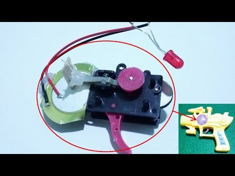 Turning a toy gun into a energy generator