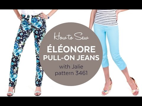 How to Sew the Éléonore Jeans (Jalie pattern 3461)