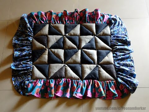 How to make rug, carpet, floor mat using old Trousers | Recycling old clothes | Best out of waste