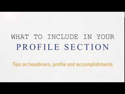 Quick Tips On Your Resume's Profile Section