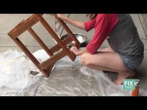 Part 1: How refinish a wood bar stool