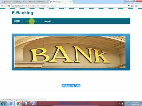 E Banking System Java Project