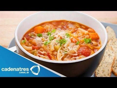 Receta de Sopa de Fideos con Pollo / Cómo preparar  Sopa de Fideos con Pollo
