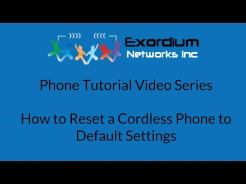 How to Reset a Cordless Phone to Default Settings