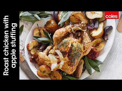 How to make roast chicken with apple stuffing