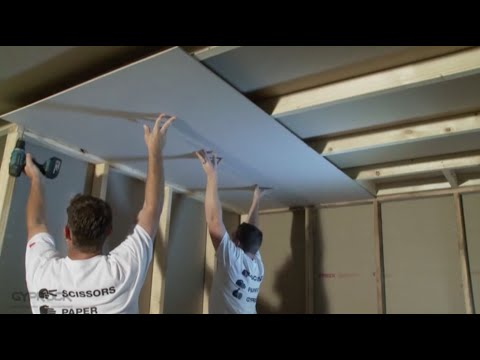 How to Install Plasterboard Part 3: Ceilings and Walls