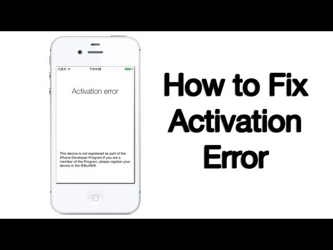 Activation Error Fix - iPhone, iPod, iPad - 10/6/2013
