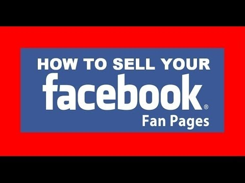 how to sell facebook fan page