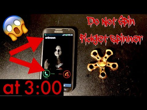 Do not spin a fidget spinner at 3:00 AM! (3 AM CHALLENGE) with figet spinners