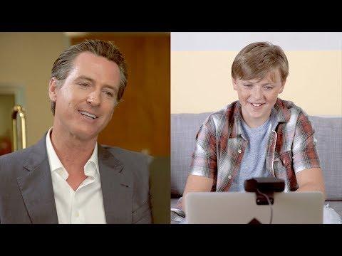 Gavin Newsom Inspires a Child With Dyslexia