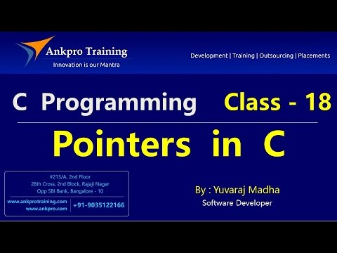 C language - Class 18 : Pointers in C part - 1(How to find the address of a variable in C language?)