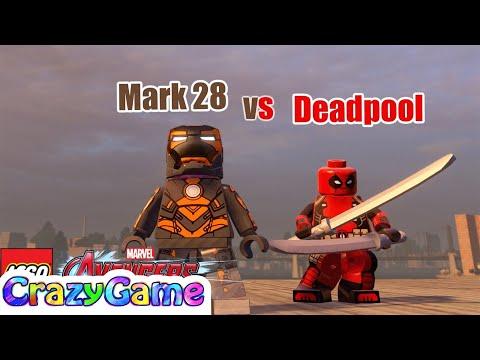 LEGO Deadpool (Marvel Now) vs Iron Man (Mark 28) in LEGO Marvel's Avengers MOD