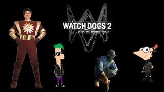 game||latest update2018||Watch Dogs 2 -(gameplay hd) | Shaktiman remix | phineas  and ferb songs