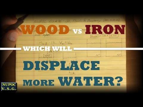 NUPOC VSG #96 - Which Displaces More Water: Wood or Iron?