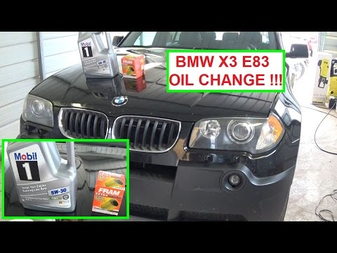 BMW X3 E83 Oil Change  How to change the oil on a BMW X3 2.5 3.0 Engine