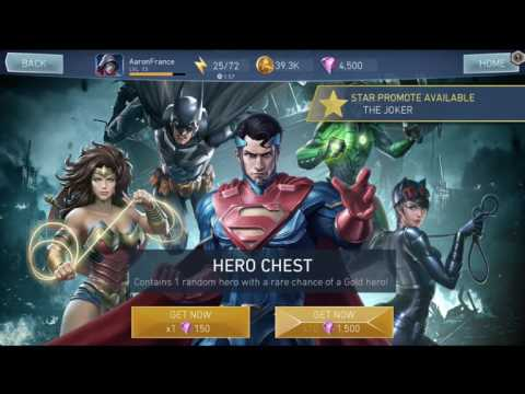 Injustice 2 Mobile - SPENDING $100 & OPENING 50 HERO CRATES!!