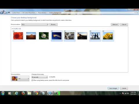 create Background theme of your own Pictures in Windows 7