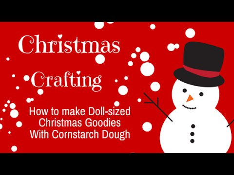 Christmas Crafting with Cornstarch Dough