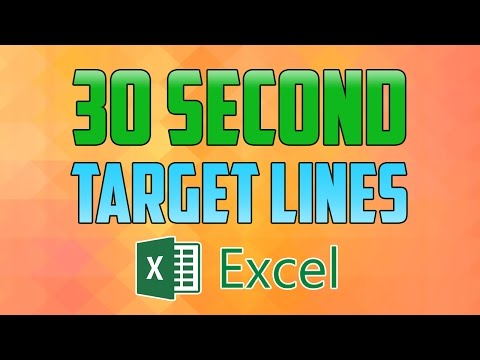 Excel 2016 : How to Add Target Lines to a Chart / Graph