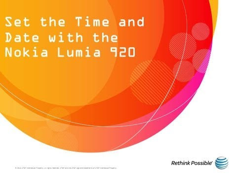 Set the Time and Date with the Nokia Lumia 920: AT&T How To Video Series