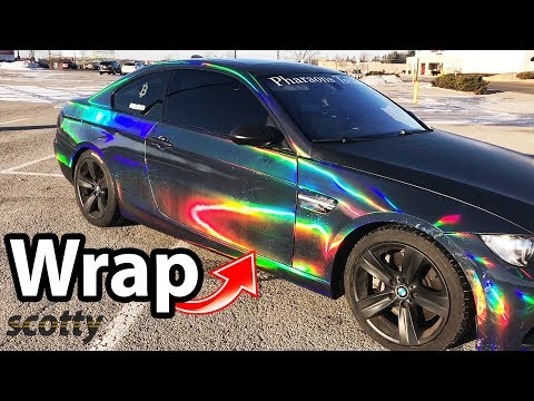 BMW 335i Coupe with Holographic Vinyl Wrap - Car Show Off with Scotty Kilmer