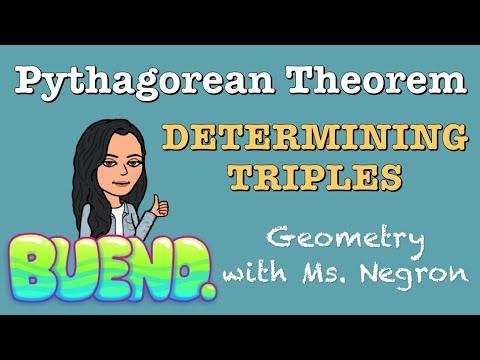 Determining Pythagorean Triples