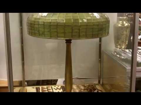 Tiffany Lamp, Signed  LCT Tiffany Lamp with original shade and base.