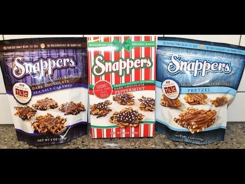 Snappers: Peppermint, Pretzel & Sea Salt Caramel Gourmet Pretzel Treats Review