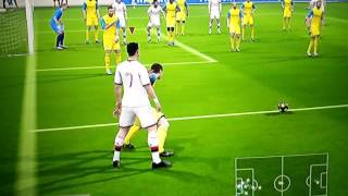 FIFA 14 funny glitch! twirking player