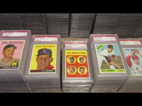 Sorting through my PSA graded baseball card collection