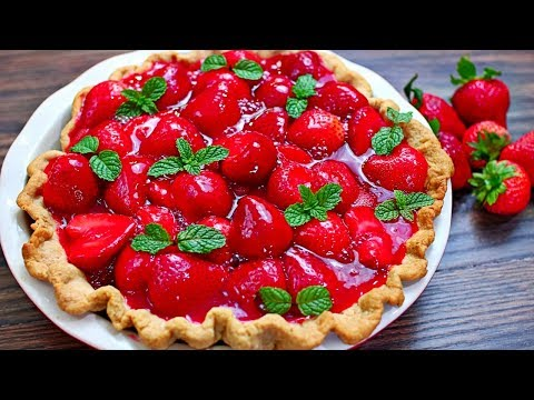 Strawberry Pie Recipe - How to make Strawberry Pie 🍓🍓