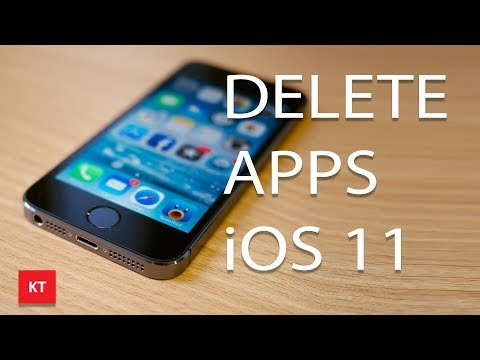 How to delete apps in iOS 11 (No 3d touch)