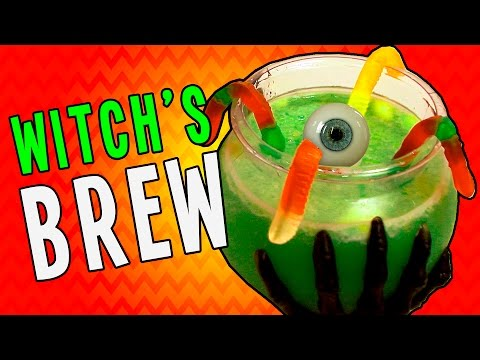 How to Make Witch's Brew Party Punch - Runny's Halloween Recipes for Kids