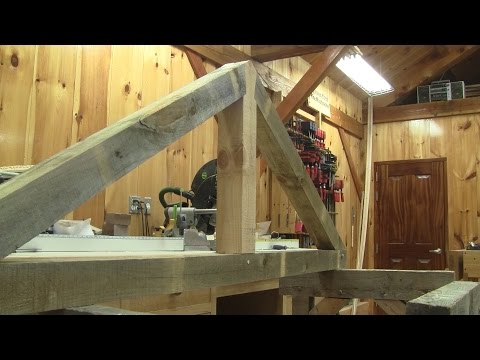 The Woodpecker Ep 115  - I'm showing how I made my timber frame trusses