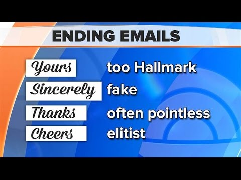 Formal #Business English Emails    Email Closing Salutations