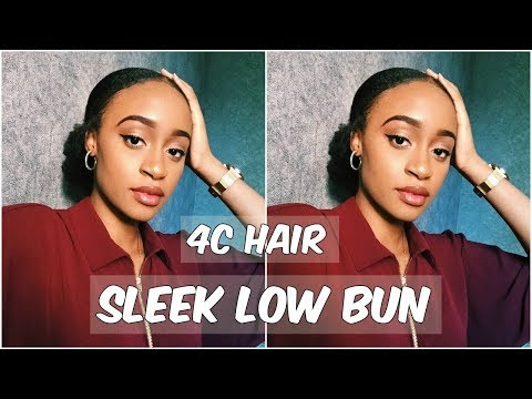 SLEEK LOW BUN ON KINKY NATURAL HAIR | 4A/4B/4C HAIR