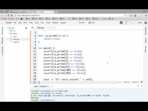 Test-driven development of C++ functions