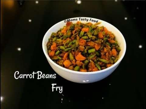 carrot beans fry - carrot and green beans poriyal - carrot beans thoran
