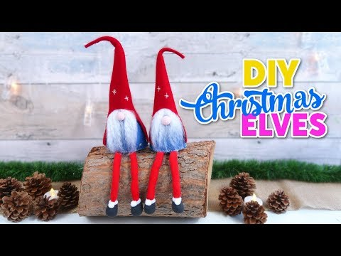 Crafts for Xmas decoration DIY, how to make Santa Claus elves- Christmas ornaments DIY