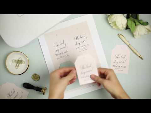 How to Make Wedding Favor Hang Tags