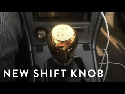 How to replace a shift knob.