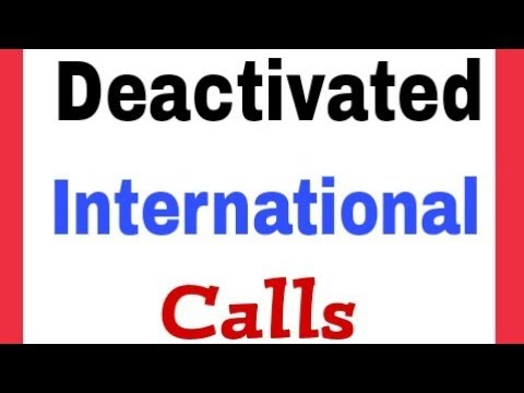 How To Deactivate International Calls