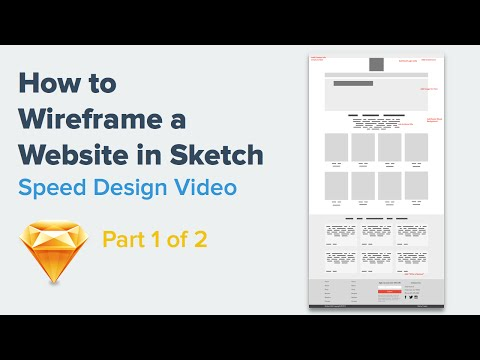 How to Wireframe a Website | Speed Design in Sketch 3