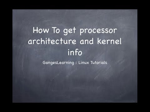 Linux Tutorials: How to get kernel info and processor architecture of unix system