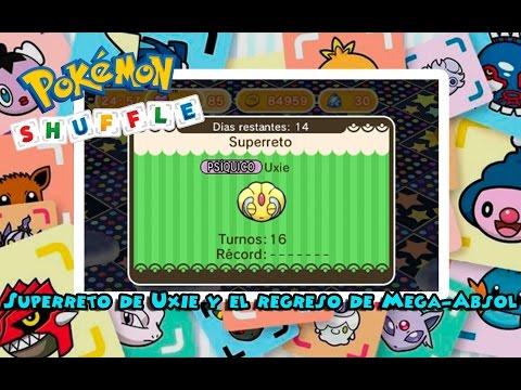 Superreto de Uxie y el regreso de Mega-Absol - Pokémon Shuffle