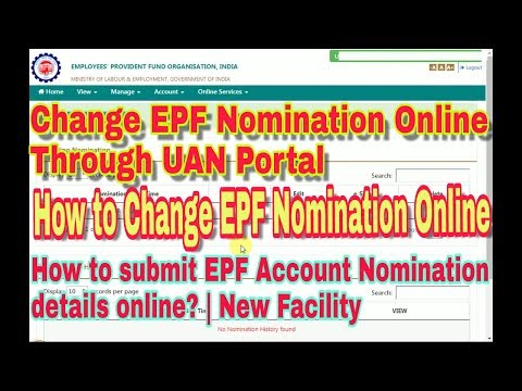 How to submit EPF Account Nomination details online? | New Facility || Change EPF Nomination Online