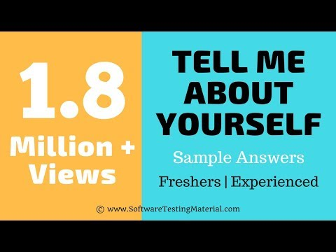 Tell Me About Yourself | Sample Answers | Freshers | Experienced