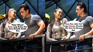 Salman Khan CUTELY Comforts Saiee Manjrekar After She Gets SCARED Seeing Crowd @ Dabangg 3