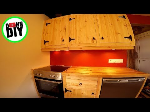 Affordable Homemade Solid Wood Kitchen Cupboards With Blacksmith Hardware
