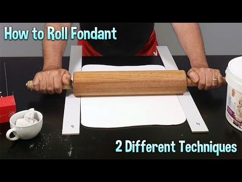 How to Roll Fondant Tutorial   2 Different Techniques